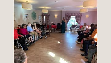 Musical afternoon at Lewisham care home