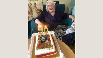 90th birthday celebrations at Stornoway care home