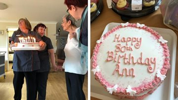 80th birthday celebrations at Stoke-on-Trent care home