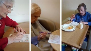 Dukinfield care home write letters to loved ones
