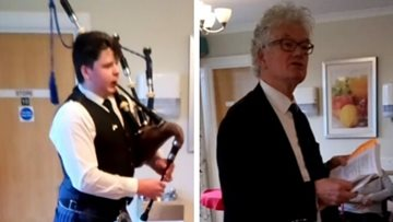 Glenrothes care home celebrates Burns Night