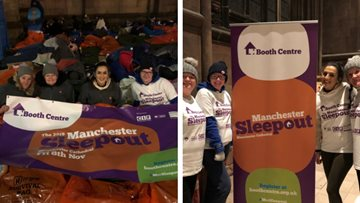 Rochdale care home raises £926 for homeless community at Manchester Sleepout