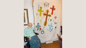 Great Easton care home Resident expresses artistic passion