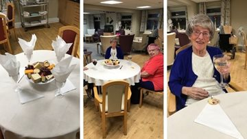 Wine and cheese evening goes down a treat at Dukinfield care home