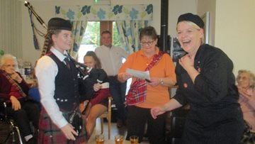 Perth care home celebrates Burns Night