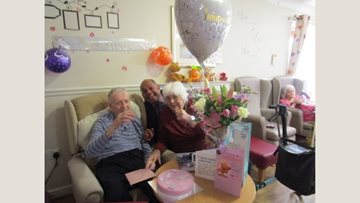 Anniversary celebrations for Chelmsford care home Resident