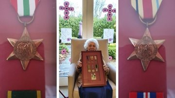 Newcastle care home Resident remembers her husband on Remembrance Day