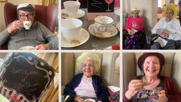 A cup of tea for the Queen at Bankhouse care home