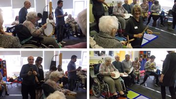 Glasgow care home Residents take part in intergenerational musical project