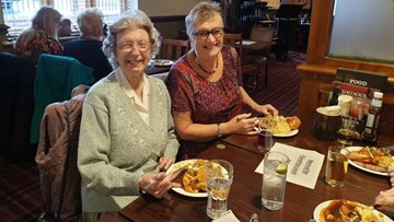 Residents join together for friendship lunch at Swallownest care home