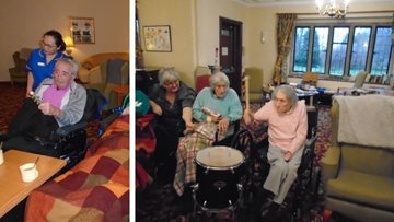 Kiddley Divey entertainment hits the right note at Tetbury care home