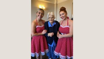 Valentine's entertainment at Poulton Le Fylde care home