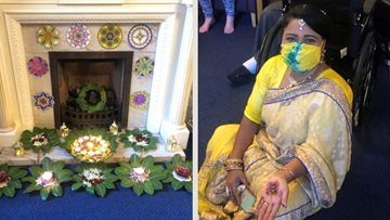 Diwali delights Coventry care home Residents