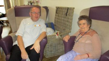 Inverness care homes Nursing Assistant receives long service award