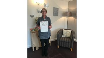 Tuck shop treats land lovely lady a Kindness in Care Award