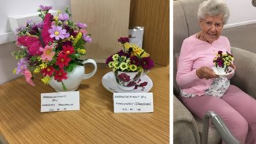 Residents create beautiful floral displays