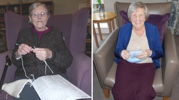 Residents enjoy Knit and Natter at Sheraton Court