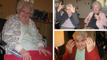 Residents enjoy pamper afternoon at Hinckley care home