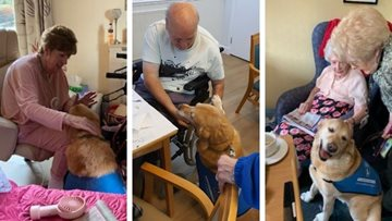 Guide Dogs UK visit Leeds care home