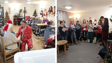 Christmas celebrations at Sheffield care home