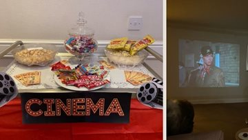 Residents enjoy cinema experience at Newcastle care home