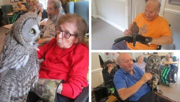 Leeds care home visited by a bunch of 'Wise Owls'