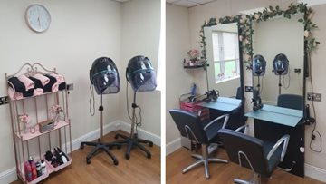 Hull care home hairdressers' has a pretty pink makeover
