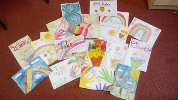 Sheffield care home receiving paintings from local school children
