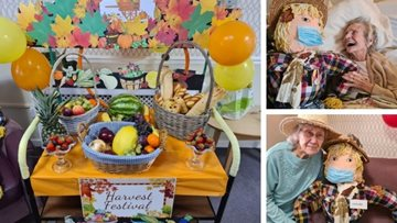 Sheffield care home get Harvest Festival ready