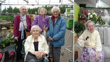Residents enjoy a visit to the local garden centre