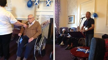Edinburgh care home hosts St Andrew's Day celebrations