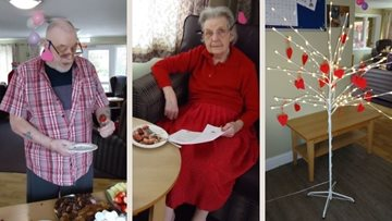 Valentine's Day celebrations at Nottinghamshire care home