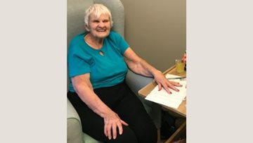 Residents enjoy a pamper day at York care home