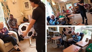 Mobility exercises at Birmingham care home