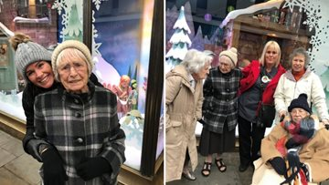 Residents are thrilled to visit Fenwick's Christmas window display