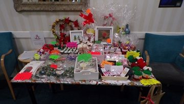 Arbroath care home unveil their annual Christmas Craft Table