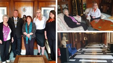 Kingswood care home Resident enjoys afternoon tea with Lord Mayor of Hull