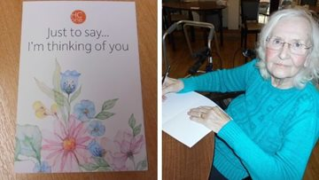 Sending letters to loved ones from Nottingham care home