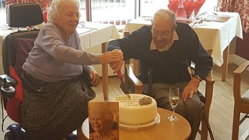 Willow Court Residents Celebrate a 70 Year Marriage