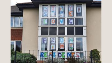 Jarrow care home Residents send their love to the local community