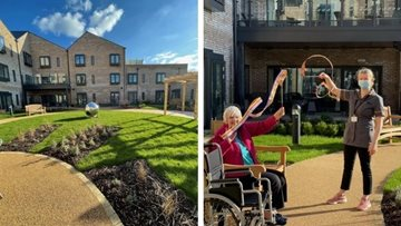 Fun in the sun at York care home