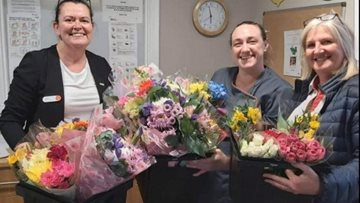 Local supermarket provides flowers for Durham Residents
