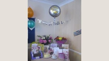 100th birthday celebrations for Stafford care home Resident