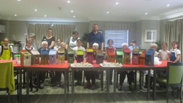 Peterlee care home Residents create colourful bird boxes