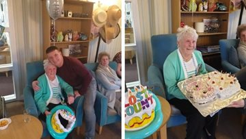 80th birthday celebrations at Greenock care home