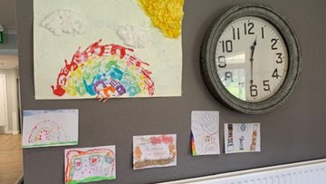 Dartford Residents receive rainbow paintings