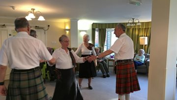 Royal Scottish Country Dance Society performs at Brompton House