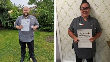 Kindness is rewarded at Rotherham care home