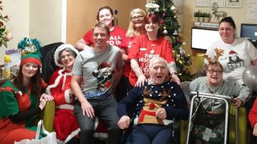 Christmas celebrations at Glasgow care home