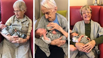 Young meets old at Coventry care home